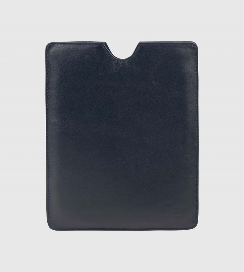Funda Ipad IE de Cuero de color navy front