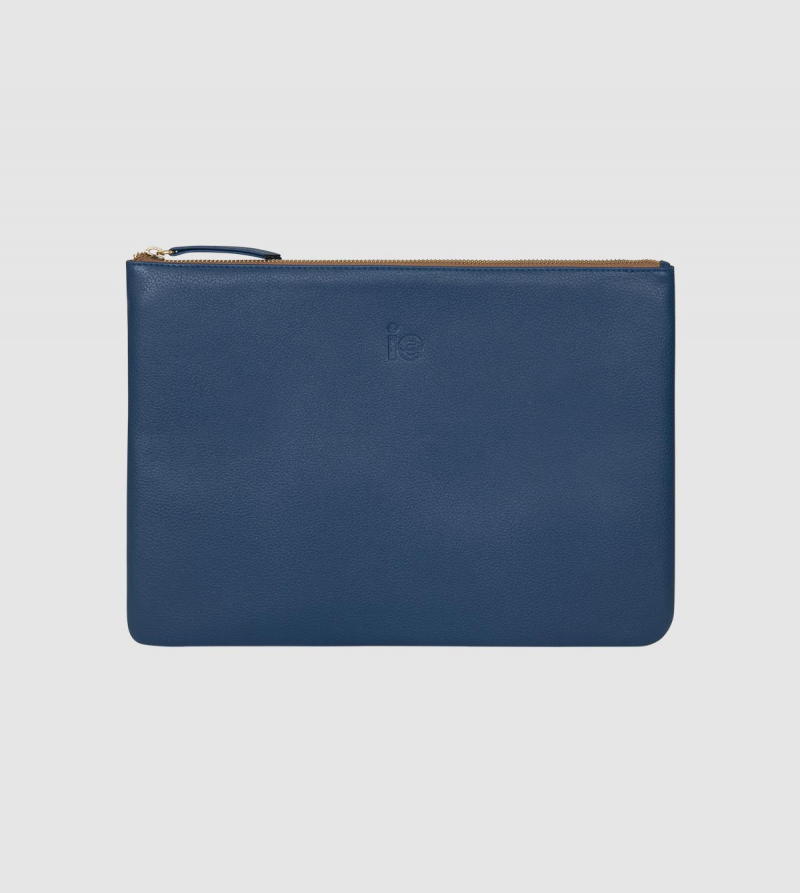 IE Leather Ipad Pro Case. Lavender color front