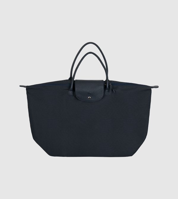 IE Nylon Folding Bag. Navy color front