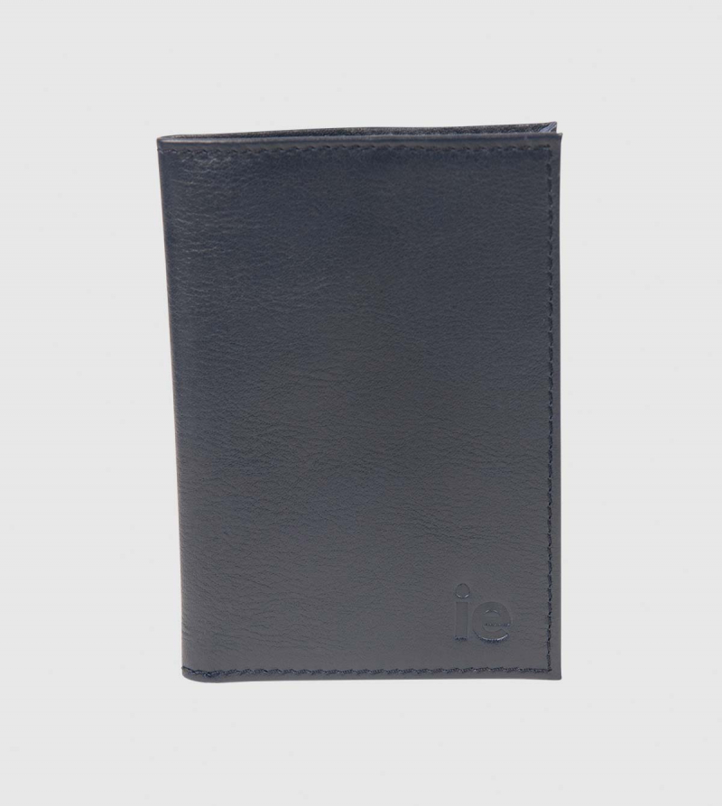 Funda Pasaporte IE de Cuero de color navy front