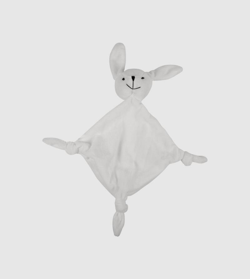 IE Rabbit Doudou. White color front