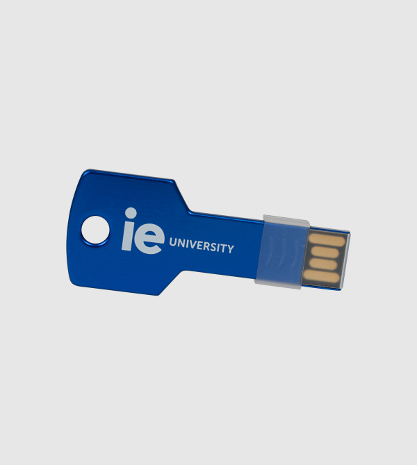 USB Llave IE. Color azul front