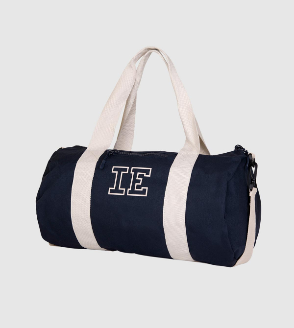 IE Eco Gym Bag. Blue color front