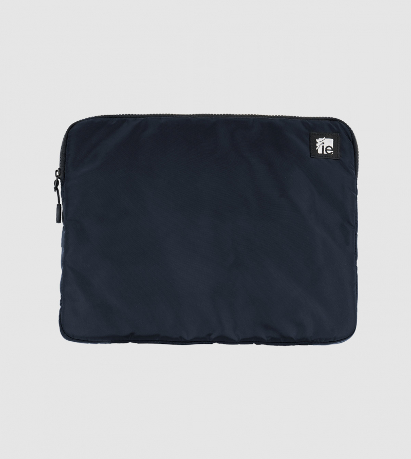 "IE Macbook Case 13"". Navy color front"