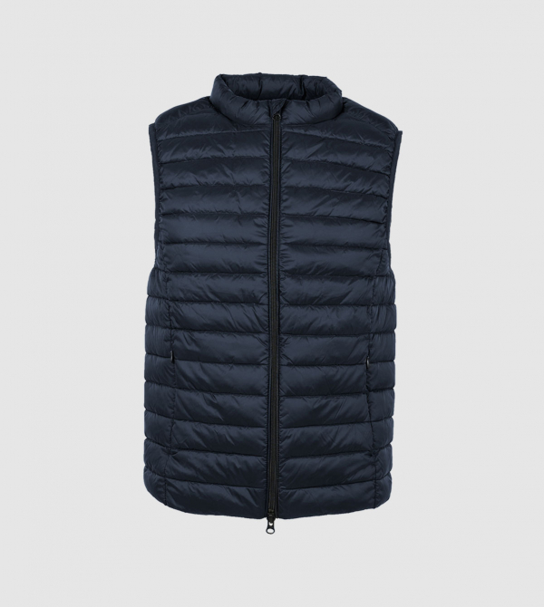 IE Vest of Primaloft. Navy color front