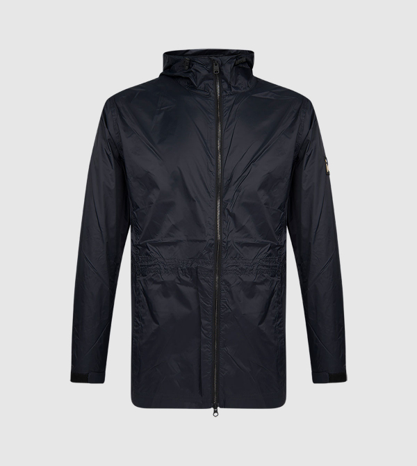 Julia IE Windbreaker. Navy color front
