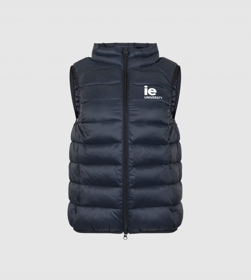 Chaleco de Hombre IE University de color navy front