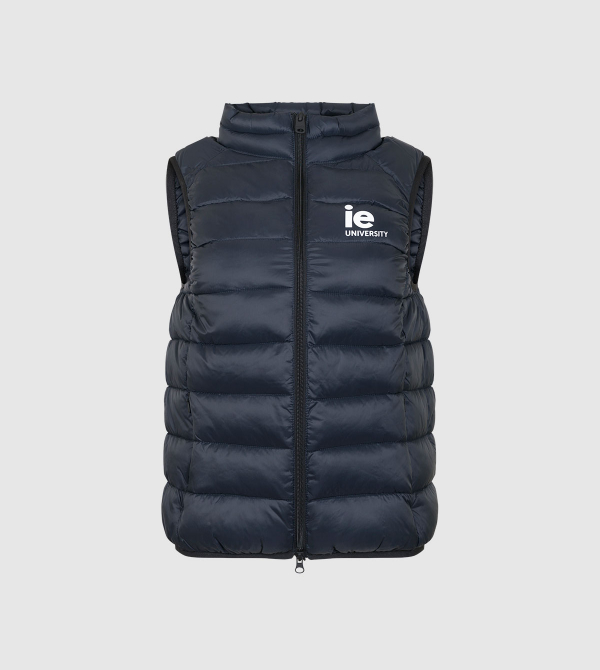 IE University Women's Vest. Navy color front