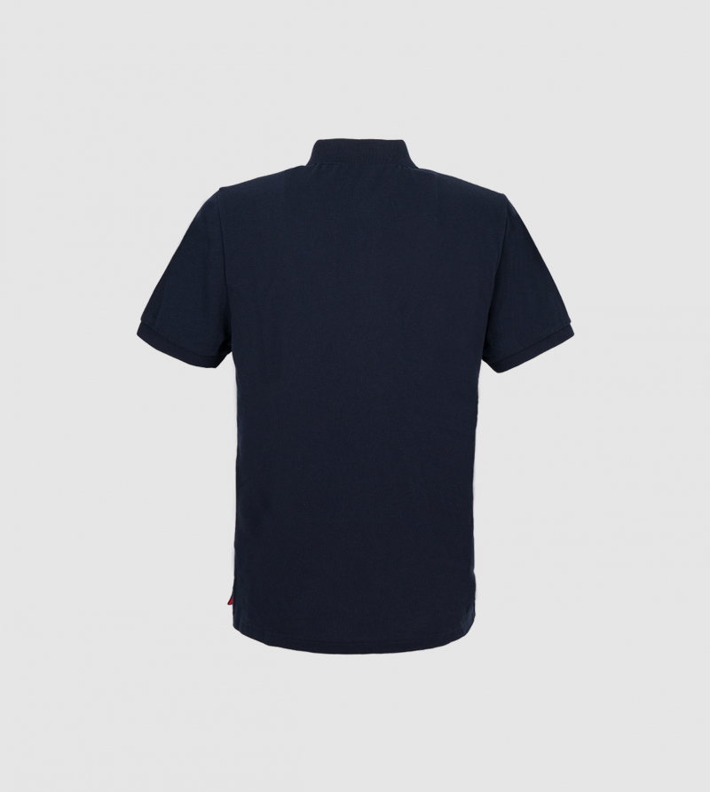 IE Polo. Navy color back