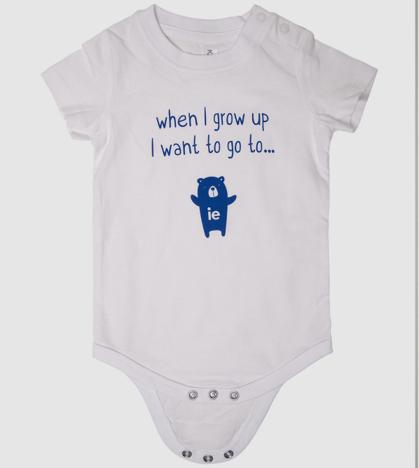 """When I grow up…"" Baby Body. White color front"