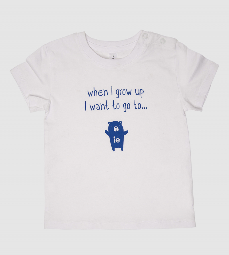"""When I grow up…"" Baby T-Shirt. White color front"