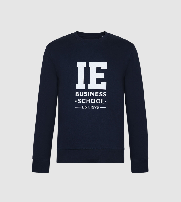 Sudadera Unisex IE Business School de color navy front