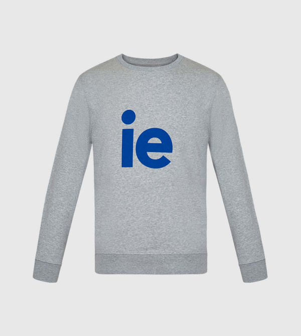 Changer IE Sweatshirt. Grey color front