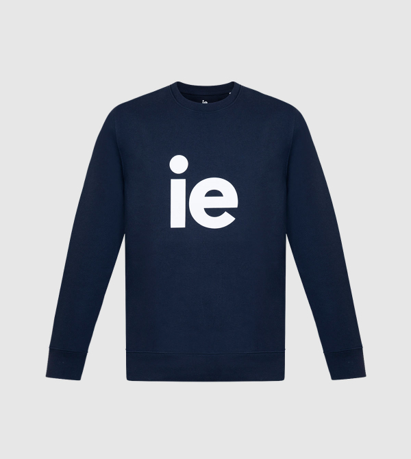 Sudadera Changer IE de color navy front