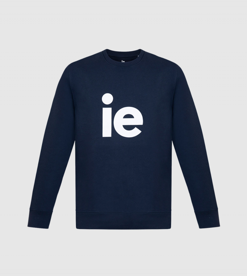 Changer IE Sweatshirt. Navy color front
