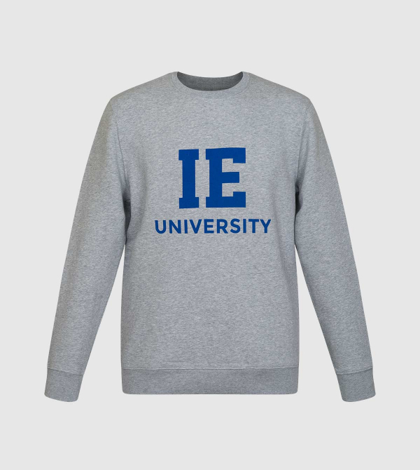Sudadera Changer IE University. Color gris front
