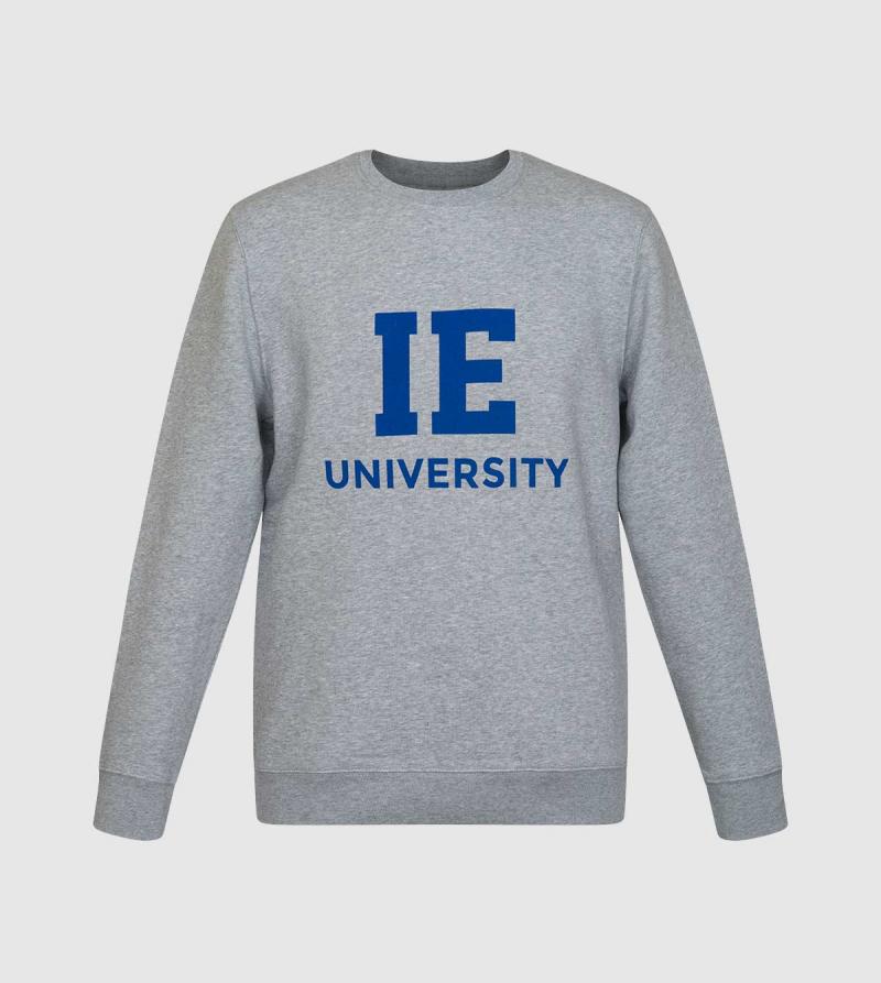 Changer IE University Sweatshirt. Grey color front