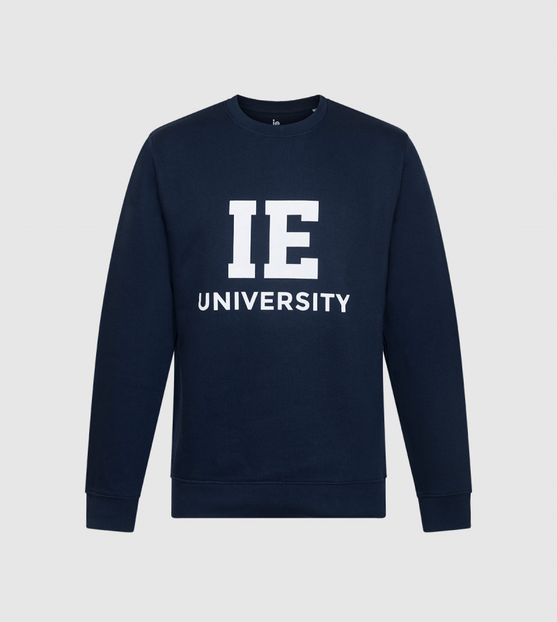 Sudadera Changer IE University. Color navy front