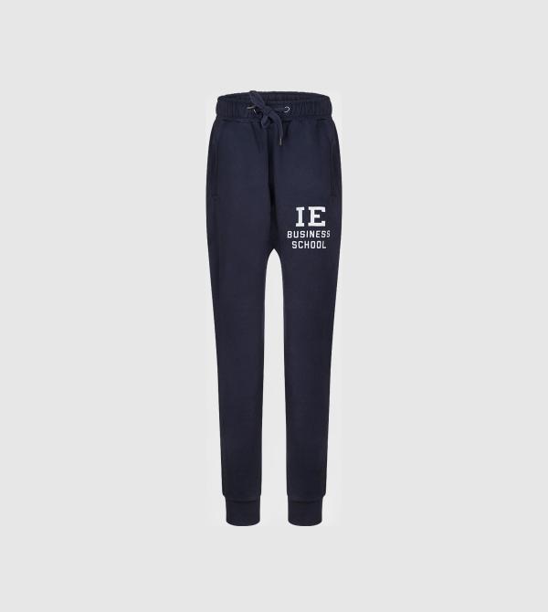 IE Business School Sweatpants. Navy color front