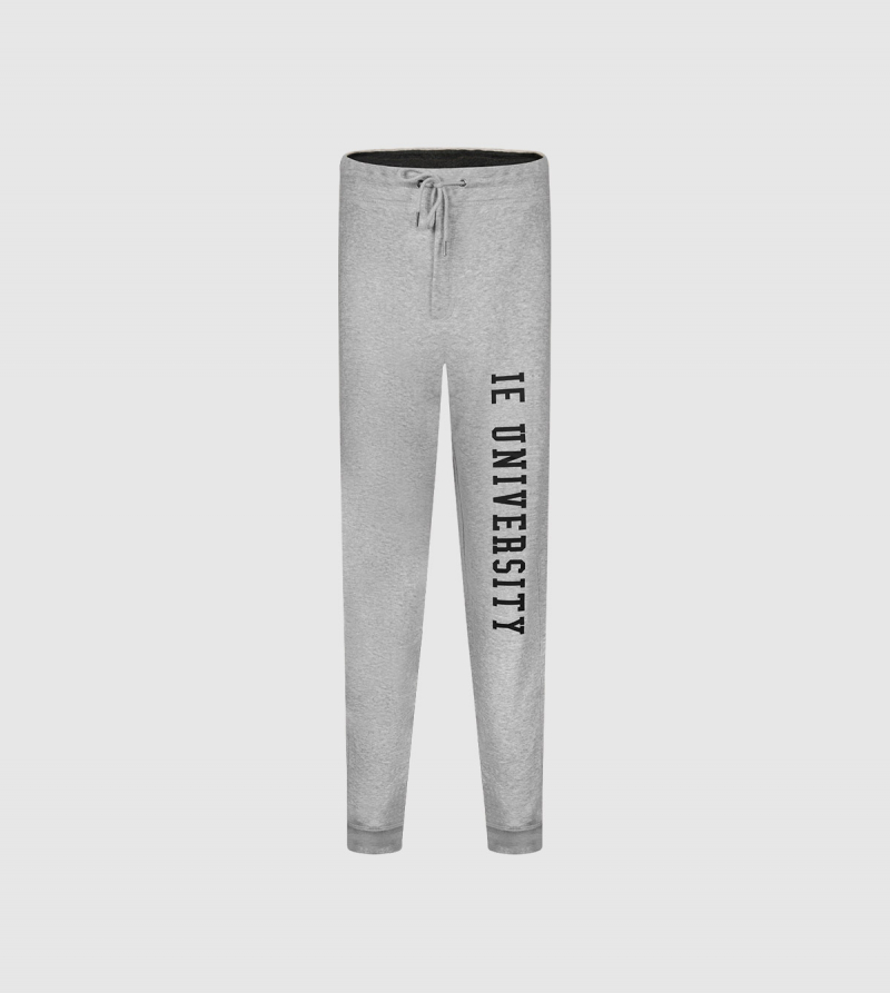 IE University Men's Sweatpants. Grey color front