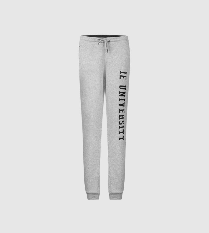 IE University Women's Sweatpants. Grey color front