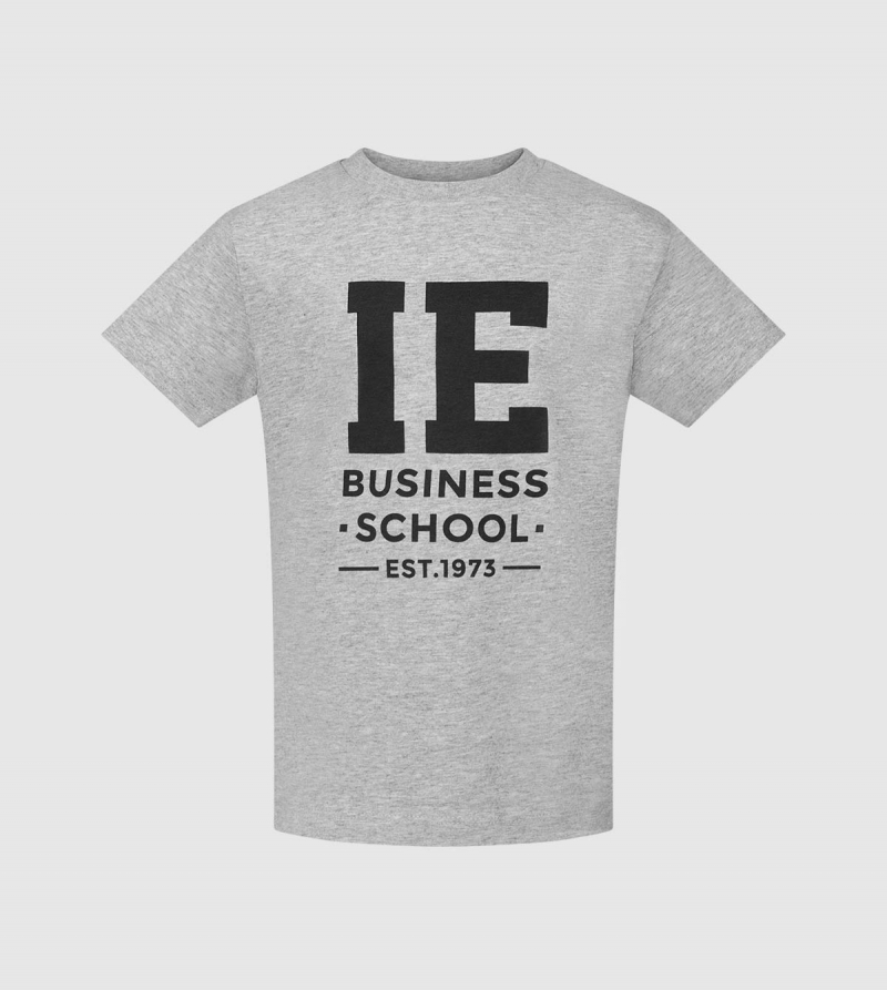 IE Business School Kids T-Shirt. Grey color zoom