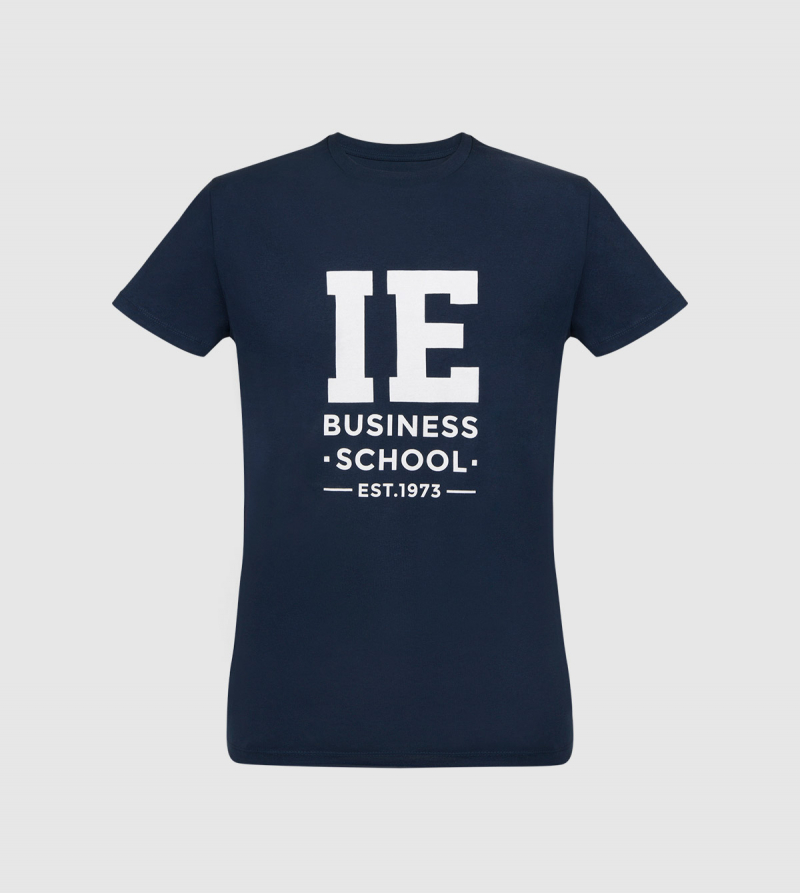 IE Business School Kids T-Shirt. Navy color zoom