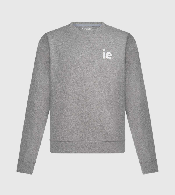 IE Men's Sweatshirt. Grey color front