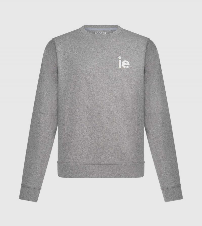 IE Men's Sweatshirt. Grey color front
