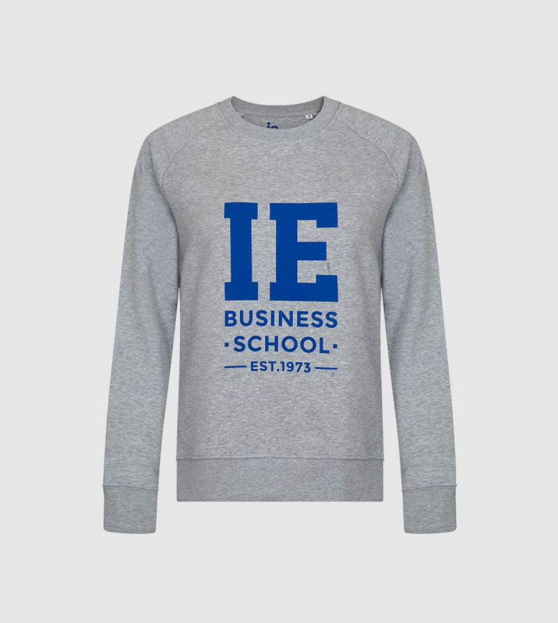Sudadera de Mujer IE Business School de color gris front