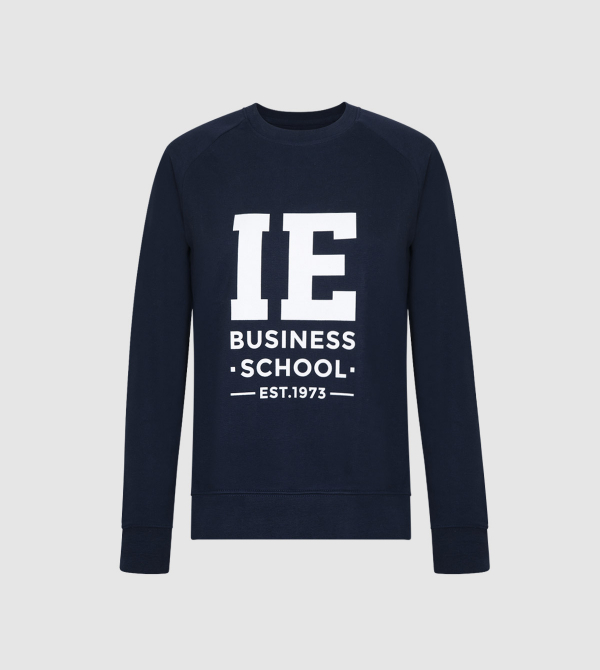 IE Business School Women's Sweatshirt. Navy color front