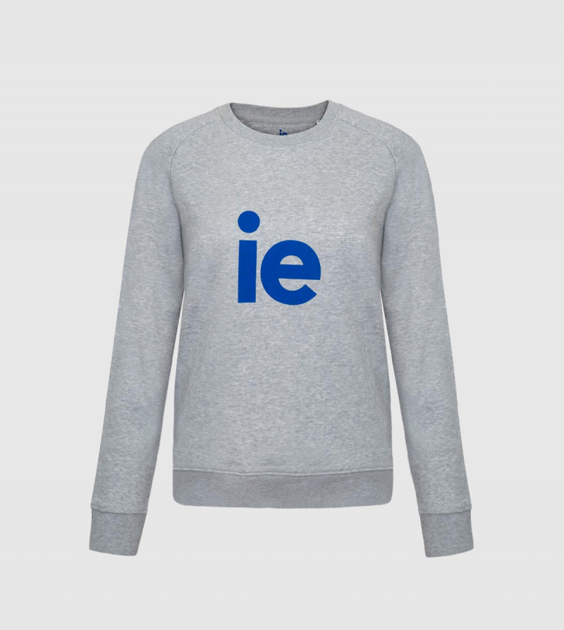 IE Sweatshirt. Grey color front