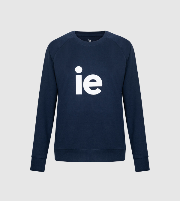 IE Sweatshirt. Navy color front