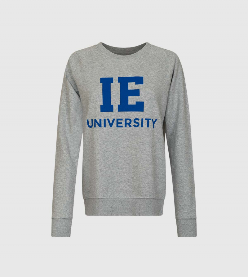 IE University Sweatshirt. Grey color front