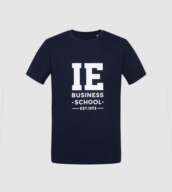 IE Business School Unisex T-Shirt. Navy color front