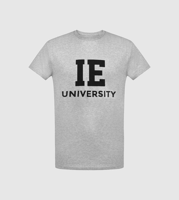 IE University Unisex T-Shirt. Grey color front