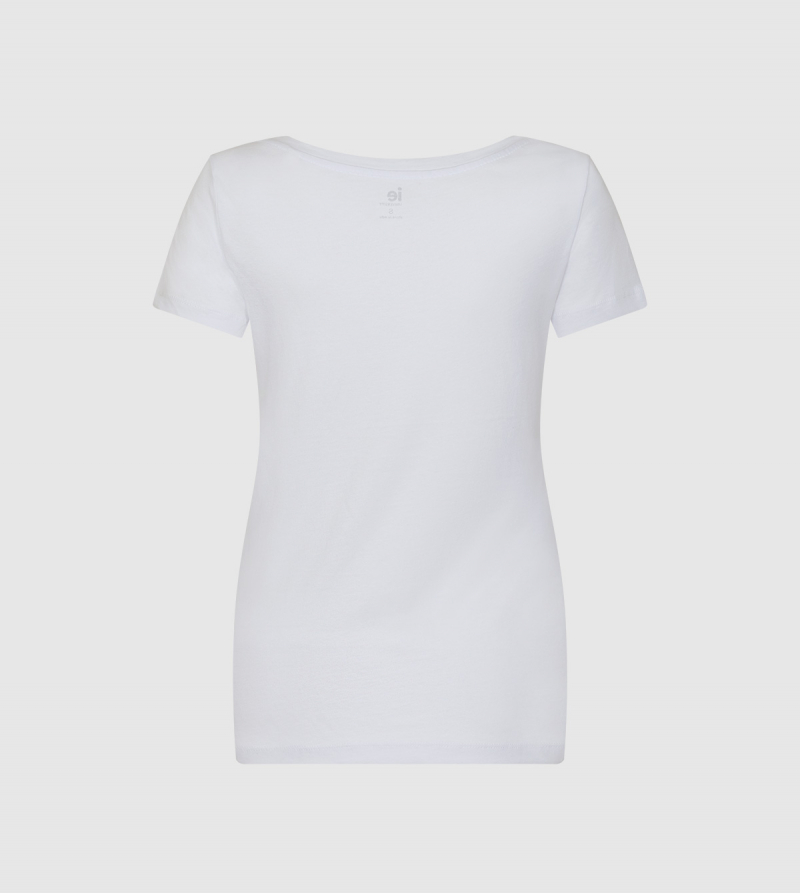 IE Human Sciences and Technology Women's T-Shirt. White color back
