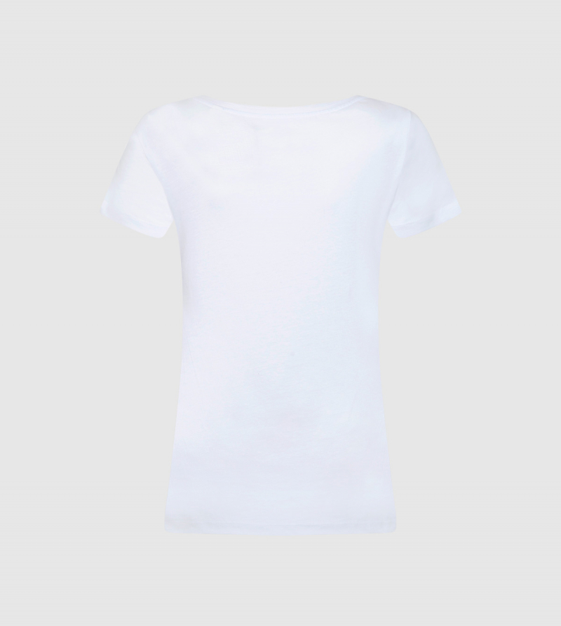 Camiseta de Mujer IE Business School de color blanco back