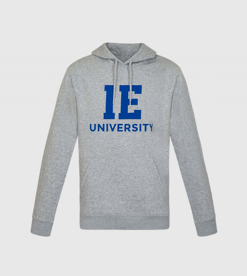 Spencer IE University Hoodie. Grey color front
