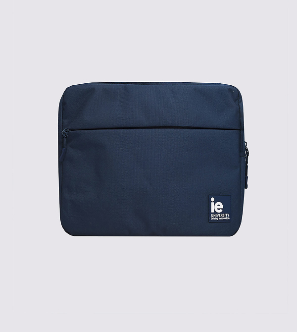Funda Ipad IE University de color navy front