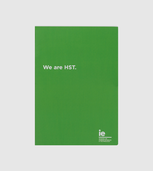IE Human Sciences and Technology Notebook. Green color front