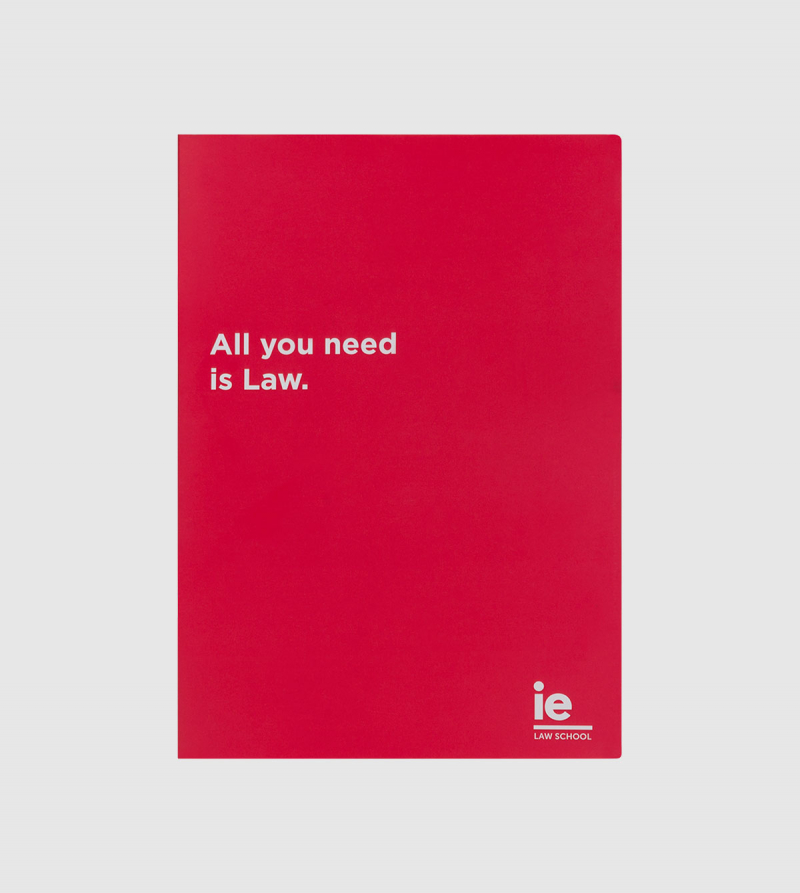 IE Law Notebook. Red color front