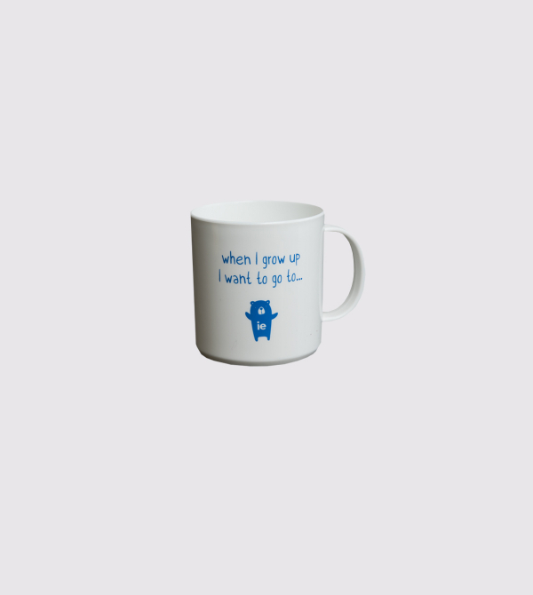 """When I grow up…"" Mug. White color front"