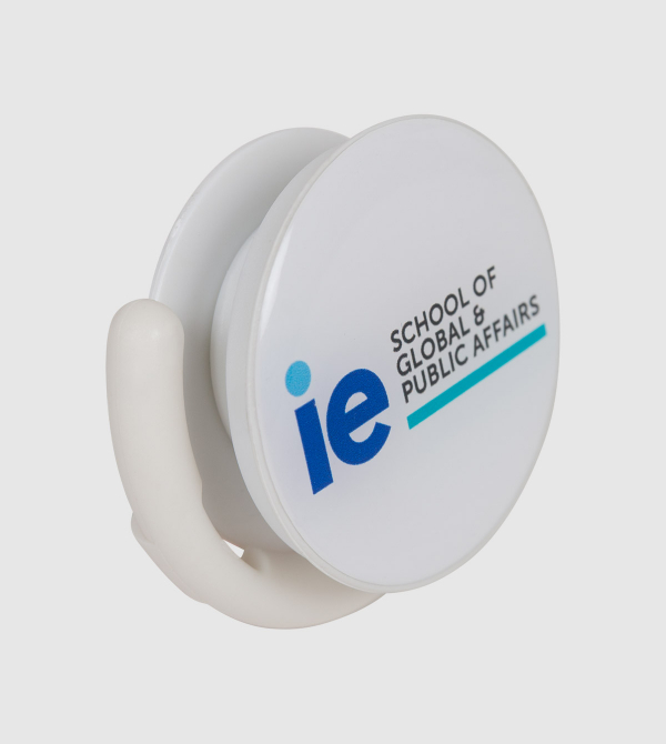IE Global and Public Affairs Popsocket. White color front