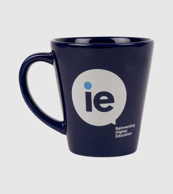 IE Blue Mug. Blue color front