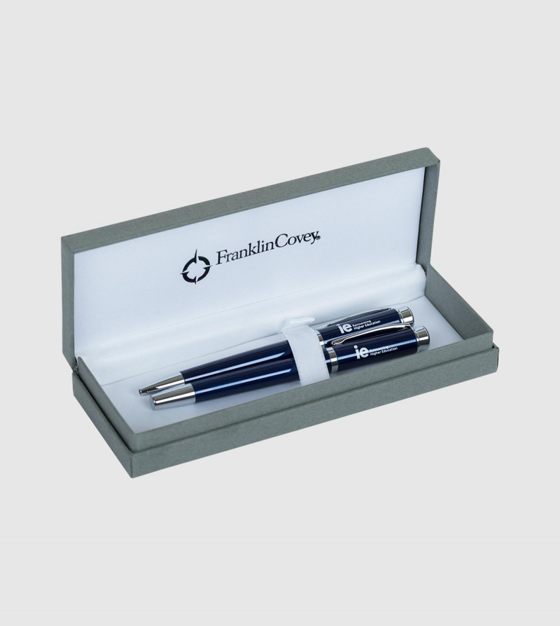 IE Pen Set. Blue color front