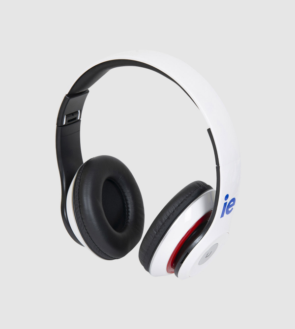 Auriculares Bluetooth IE de color blanco front