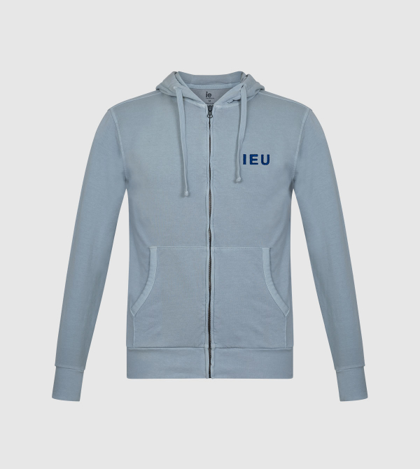 Amazona IE University Full-Zip Hoodie. Grey color back