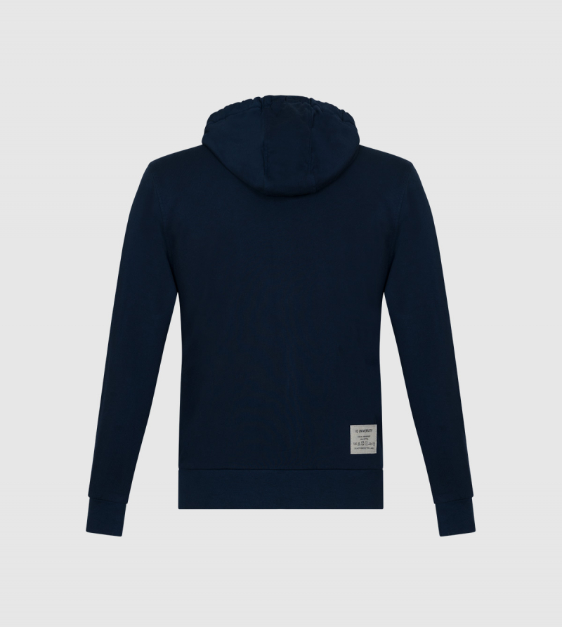 Amazona IE University Full-Zip Hoodie. Navy color back