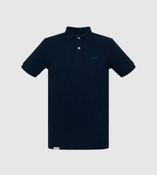Tibet IE University Polo. Navy color front